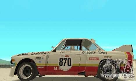 BMW 3.0 CSL Schnitzer 1975 Batmobile para GTA San Andreas vista posterior izquierda