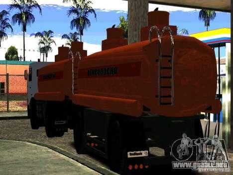 MAZ 533702 camión para la visión correcta GTA San Andreas