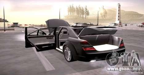Mercedes-Benz S600 v12 para la vista superior GTA San Andreas
