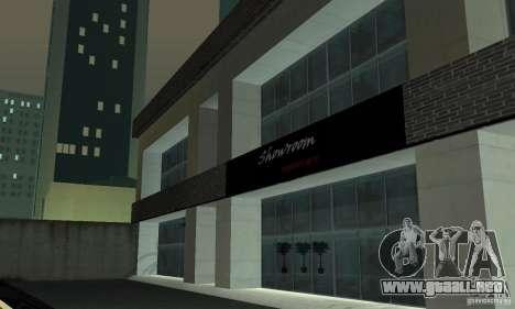 Ferrari, Lamborghini, Porsche Car Showroom para GTA San Andreas segunda pantalla
