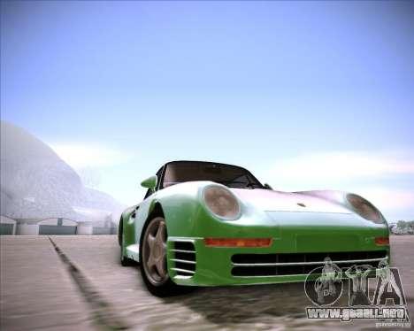 Porsche 959 1987 para GTA San Andreas vista posterior izquierda