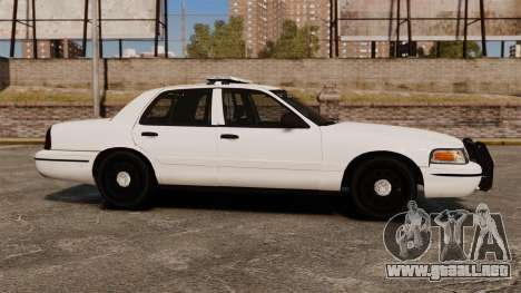 Ford Crown Victoria Unmarked ELS para GTA 4 left