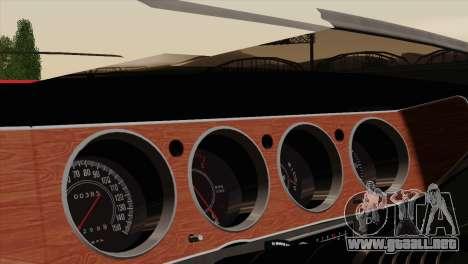 Plymouth Hemi Cuda 426 1971 para la vista superior GTA San Andreas