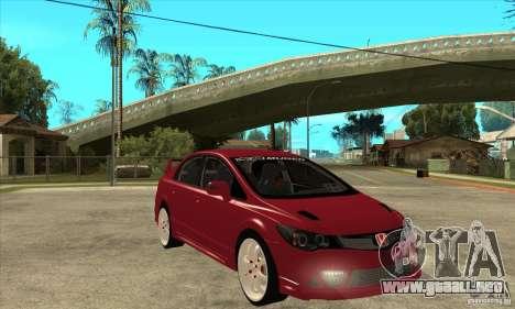 Honda Civic Mugen RR para GTA San Andreas vista hacia atrás