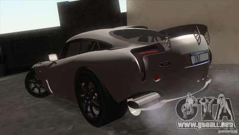 TVR Sagaris 2005 V1.0 para la visión correcta GTA San Andreas
