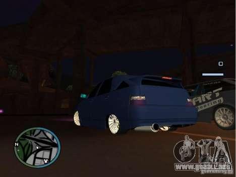 VAZ-2112 coche Tuning para GTA San Andreas vista posterior izquierda