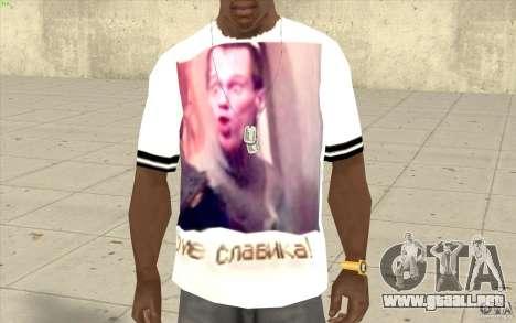Camiseta: Exuberante Slavik para GTA San Andreas