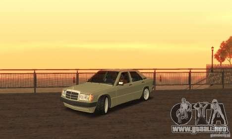 Mercedes-Benz 190E para GTA San Andreas vista posterior izquierda