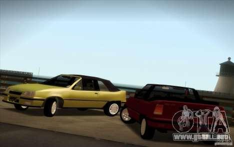 Chevrolet Kadett GSI Cabrio para la visión correcta GTA San Andreas