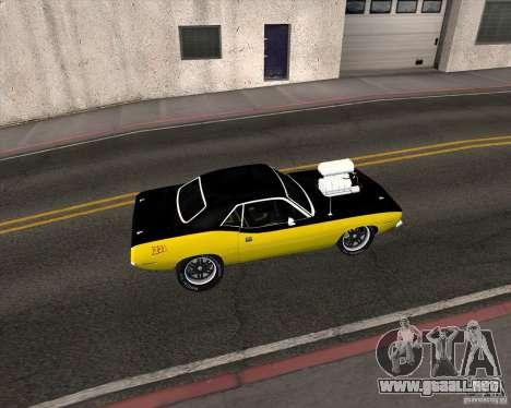 Plymouth Hemi Cuda 440 para la visión correcta GTA San Andreas