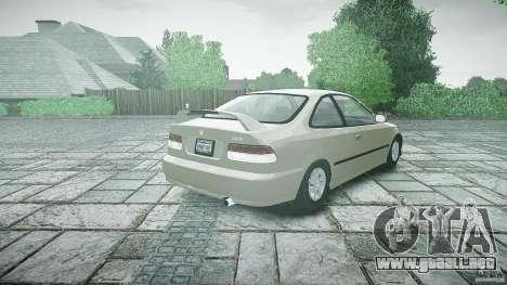 Honda Civic Coupe para GTA 4 Vista posterior izquierda