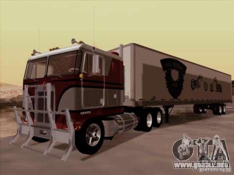 Kenworth K100 para la visión correcta GTA San Andreas