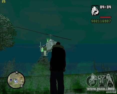 Ayuda de helicóptero para GTA San Andreas tercera pantalla