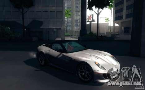 Ferrari 599 GTO 2011 para la visión correcta GTA San Andreas