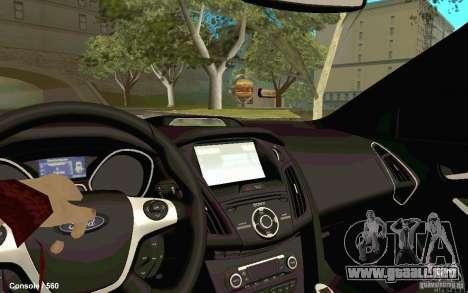 Ford Focus para GTA San Andreas vista posterior izquierda