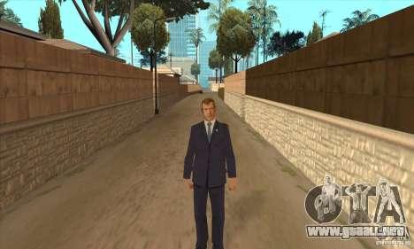 Dmitry Anatolyevich Medvedev para GTA San Andreas segunda pantalla