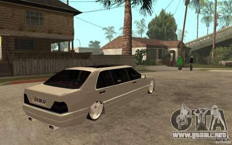 Mercedes-Benz S600 V12 W140 1998 VIP para la visión correcta GTA San Andreas