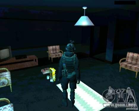 Soldados de la CoD MW 2 para GTA San Andreas tercera pantalla