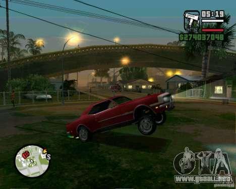 Capacidad para levantar el coche para el dólar para GTA San Andreas sucesivamente de pantalla