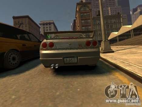 Nissan Skyline GT-R V-Spec (R33) para GTA 4 Vista posterior izquierda