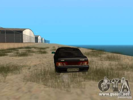 Vaz 2115 luz Tun v. 1.1 para GTA San Andreas vista posterior izquierda