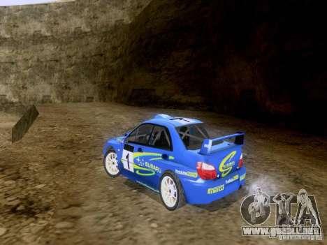 Subaru Impreza WRC 2003 para GTA San Andreas vista posterior izquierda