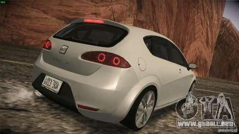Seat Leon Cupra para GTA San Andreas vista hacia atrás