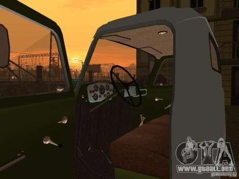 GAZ 53 aguador para GTA San Andreas vista hacia atrás