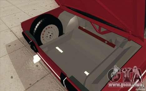 Lada 2106 Vaz para GTA San Andreas interior