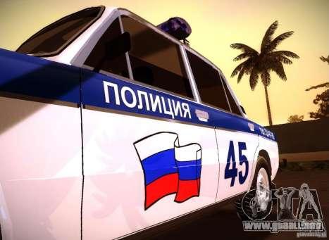 2106 VAZ policía v 2.0 para la visión correcta GTA San Andreas