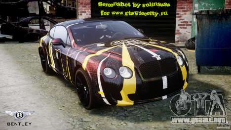 Bentley Continental SS 2010 Gumball 3000 [EPM] para GTA motor 4