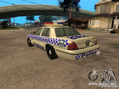 Ford Crown Victoria NSW Police para GTA San Andreas left