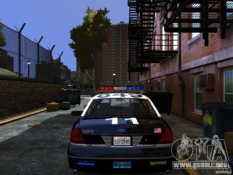 Ford Crown Victoria LAPD v1.1 [ELS] para GTA 4 left