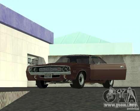 Dodge Challenger para vista lateral GTA San Andreas