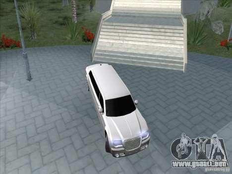 Chrysler 300C Limo para GTA San Andreas vista hacia atrás