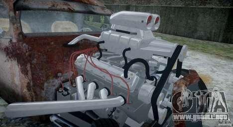 Ford RatRoad 1936 para GTA 4 vista interior