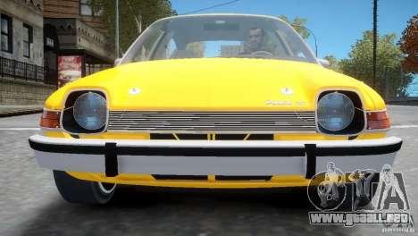 AMC Pacer 1977 v1.0 para GTA 4 vista lateral