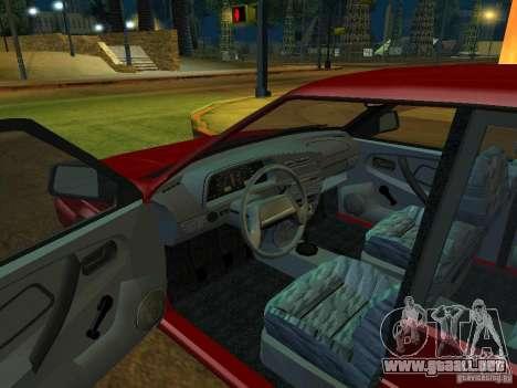 ВАЗ 2114 Touring para GTA San Andreas vista hacia atrás