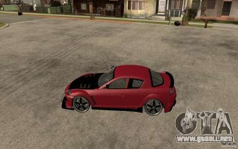 Mazda RX-8 Time Attack JDM para GTA San Andreas left