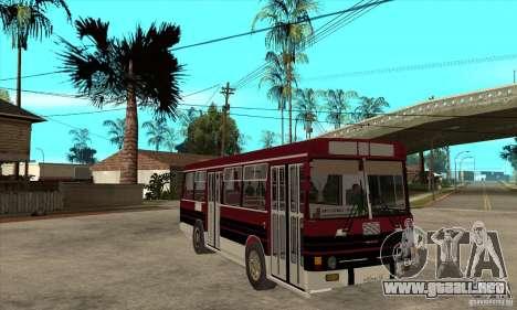 LAZ-4202 para GTA San Andreas vista hacia atrás
