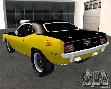 Plymouth Hemi Cuda 440 para GTA San Andreas left