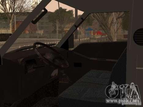 Tablero de Hyundai Porter para visión interna GTA San Andreas