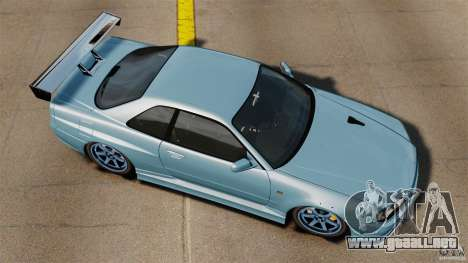 Nissan Skyline GT-R (BNR34) 2002 para GTA 4 visión correcta