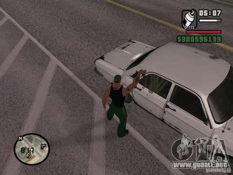 Repintado del actuador para GTA San Andreas octavo de pantalla