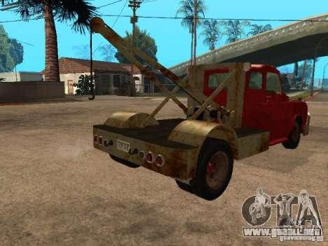 Camioneta Dodge está oxidado para GTA San Andreas vista hacia atrás