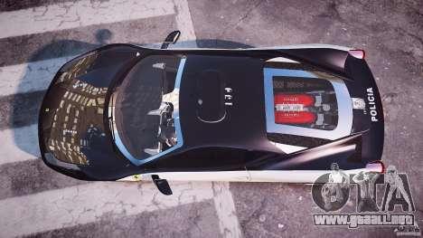 Ferrari 458 Italia - Brazilian Police [ELS] para GTA 4 visión correcta
