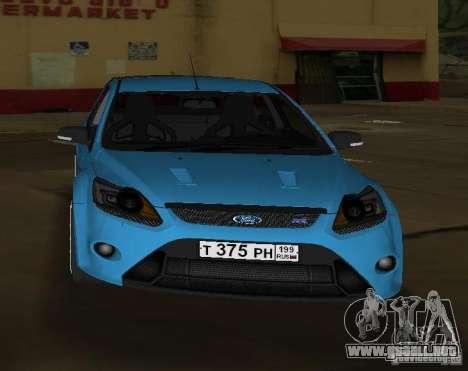 Ford Focus RS 2009 para GTA Vice City visión correcta
