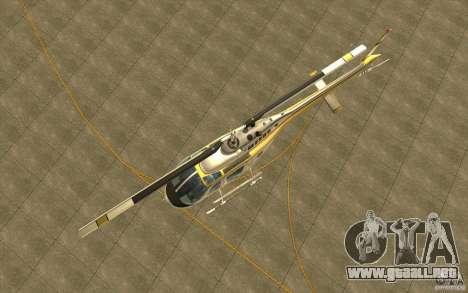 Bell 206 B Police texture4 para visión interna GTA San Andreas