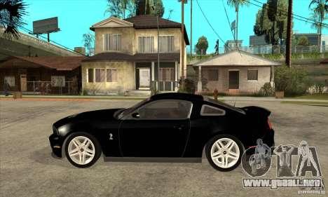 Ford Shelby GT 500 2010 para GTA San Andreas left