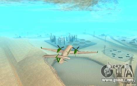 Beechcraft B1900D para GTA San Andreas vista posterior izquierda